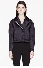 KENZO Black Embellished Satin Jacket for women