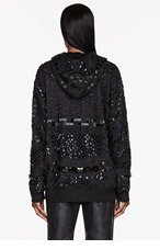 KTZ SSENSE EXCLUSIVE Black Beaded Tattoo Hoodie for women
