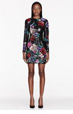 ZUHAIR MURAD Black Floral Sequined Dress for women