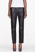 MARC BY MARC JACOBS Black Leather Karlie Trousers for women