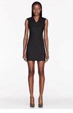 HELMUT HELMUT LANG Black Angled Zip Biker Dress for women
