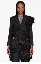 COMME DES GARÇONS Black Dot Ruffled Flower Blazer for women