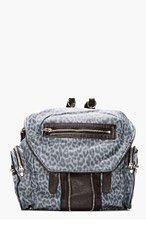 ALEXANDER WANG Blue Leopard Print Leather Marti Backpack for women