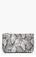 STELLA MCCARTNEY Grey Python Bailey Boo Clutch for women