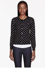 COMME DES GARÇONS PLAY Black Polka Dot Cardigan for women