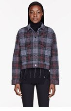 STELLA MCCARTNEY Grey & Red plaid Da Defini Jacket for women
