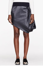 J.W.ANDERSON Black Leather Balloon Skirt for women
