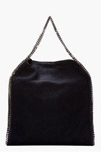 STELLA MCCARTNEY Black Tweed Classic Fallabella Tote for women
