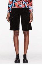 COMME DES GARÇONS Black Velvet Bow Shorts for women