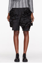 COMME DES GARÇONS Black Dot Ruffled Flower Shorts for women