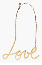 LANVIN Gold Love Necklace for women