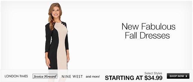 New Fabulous Fall Dresses