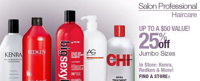 25% Off Liters:  Choose from various brands including AG, Big Sexy, Tigi Bed Head Tweens, CHI (online), Redken, Matrix, Kenra (store)