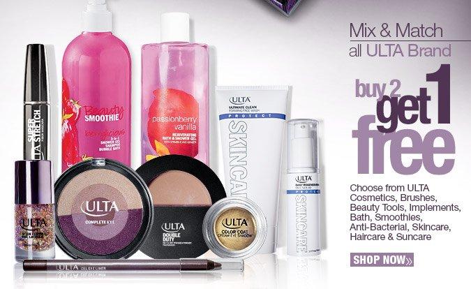 Mix & Match all ULTA Brand. Buy 2 Get 1 Free. Shop Now.