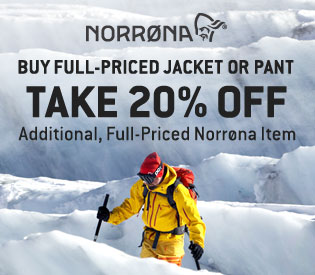 20% Off Norrøna—See the Selection