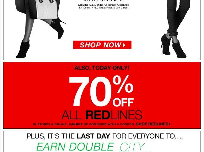 70% Off Redlines!