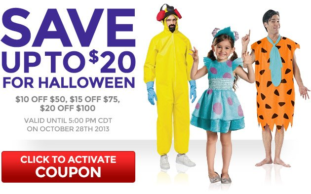 Save Up to $20 for Halloween