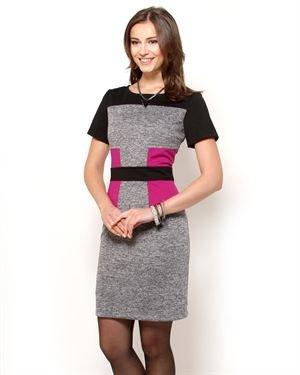Sandra Darren Color Block Dress