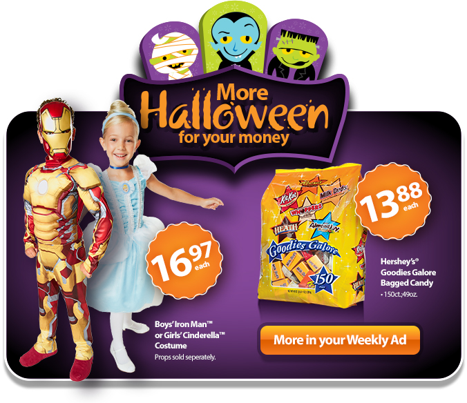 More treats for your money this Halloween.