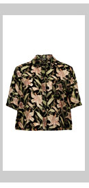 Floral Devore Shirt