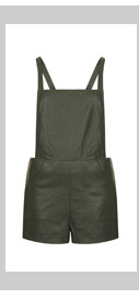 Forest Faux Leather Playsuit