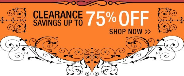 Clearance Savings up to 75% Off