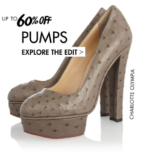 PUMPS UP TO 60% OFF