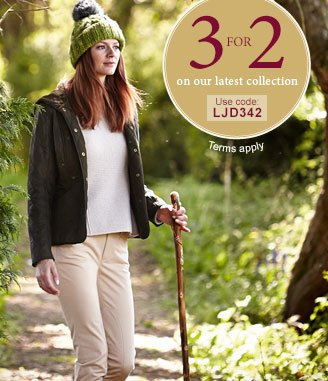 3 for 2 on our latest collection. Use offer code LJD342