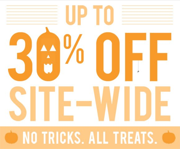 Up to 30% off site-wide.