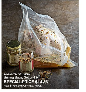 EXCLUSIVE, TOP RATED - Brining Bags, Set of 4 - SPECIAL PRICE $14.36 - REG. $17.95, 20% OFF REG. PRICE