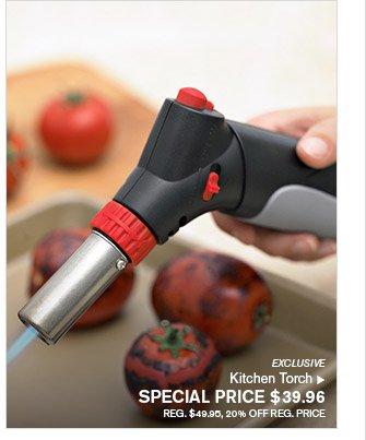 EXCLUSIVE - Kitchen Torch - SPECIAL PRICE $39.96 - REG. $49.95, 20% OFF REG. PRICE