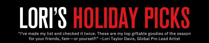 Lori's Holiday Picks