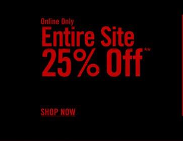 ENTIRE SITE 25% OFF*