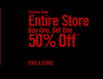 BUY ONE, GET ONE 50% OFF†