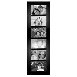 Adorama - Malden International Berkeley Series, Contemporary Wall Series Wood Frame, for Six 4x6 Photographs