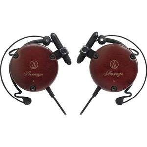 Adorama - Audio-Technica ATH-EW9 Lightweight Wood Clip-on Headphones