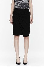 ALEXANDER WANG Black Twisted Front Wrap Skirt for women