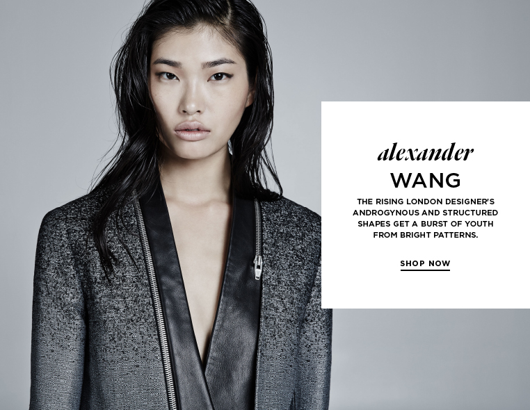 Tailored textures from Alexander Wang Goat fur, calf-hair, leather, and mohair bring warmth and depth to Wang's draped cuts.