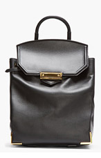 ALEXANDER WANG Black Leather Pri	sma Backpack for women