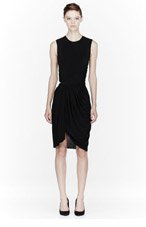 ALEXANDER WANG Black draped open-back dress for women