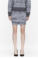 ALEXANDER WANG Black Digital Degrade Strech Skirt for women
