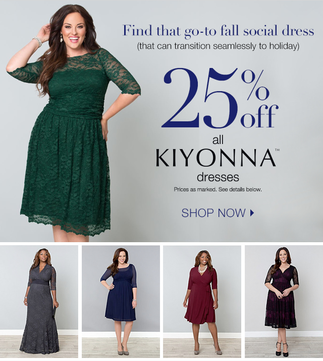 25% off all Kiyonna Dresses