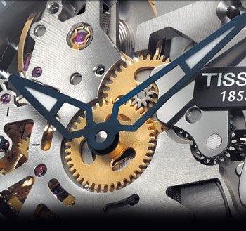 The Tissot Squelette is a must-have for every true watch aficionado. Modernity meets meticulous craftsmanship via a wheel-inspired design and a hand-wound, mechanical skeleton movement visible through the dial.