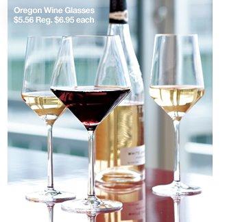 Oregon Wine Glasses $6.56 Reg. $6.95 each