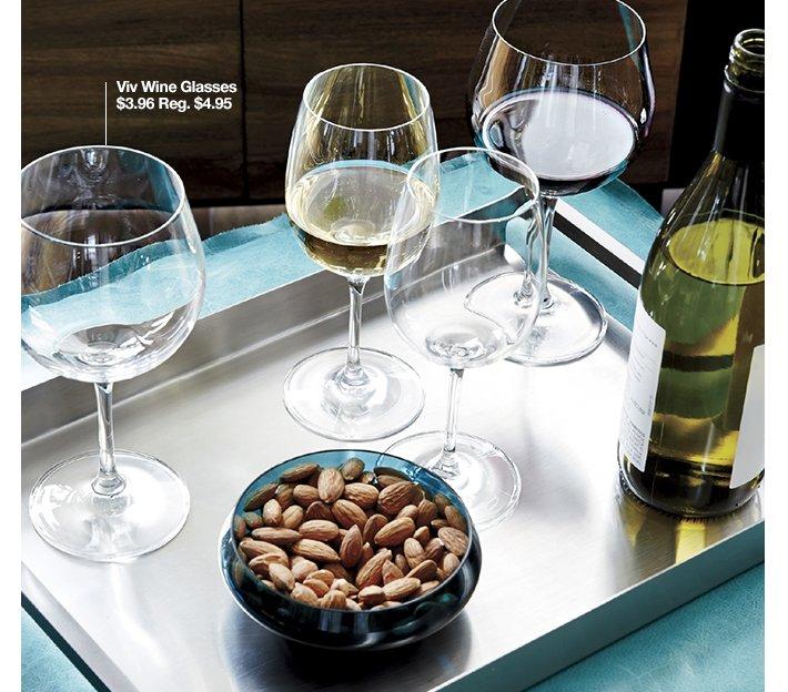 Viv Wine Glasses $3.95 Reg. $4.95