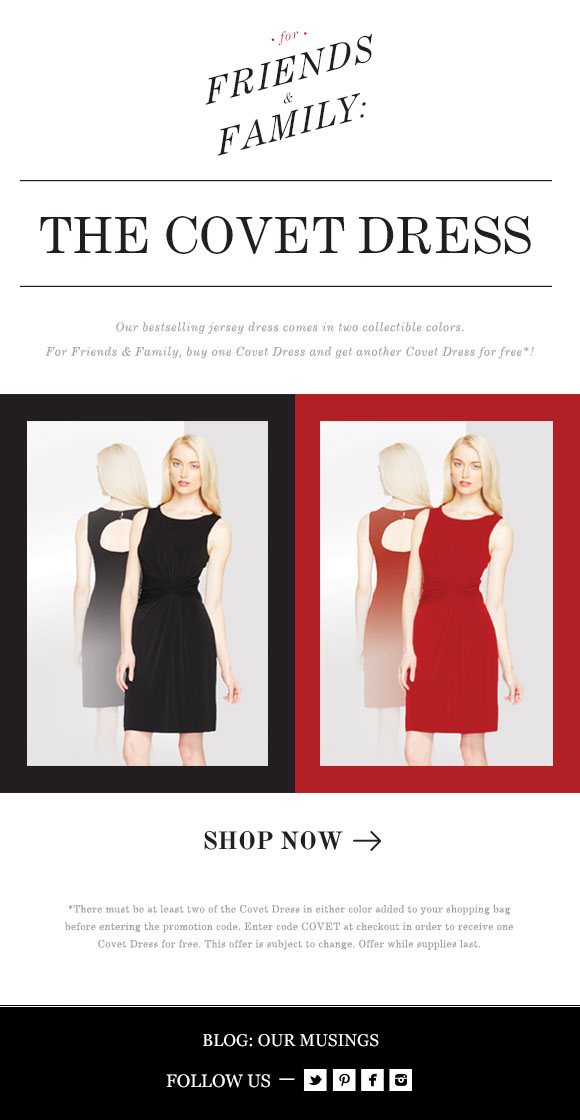 For Friends & Family: The Covet Dress