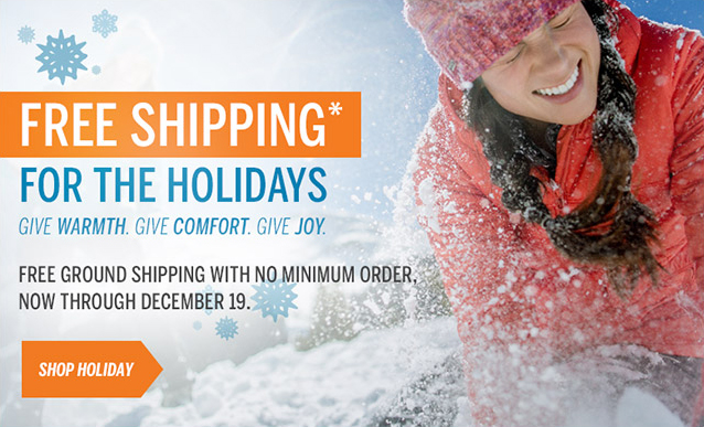 FREE SHIPPING* FOR THE HOLIDAYS