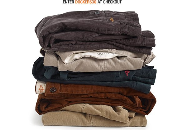 Enter DOCKERS30 at checkout