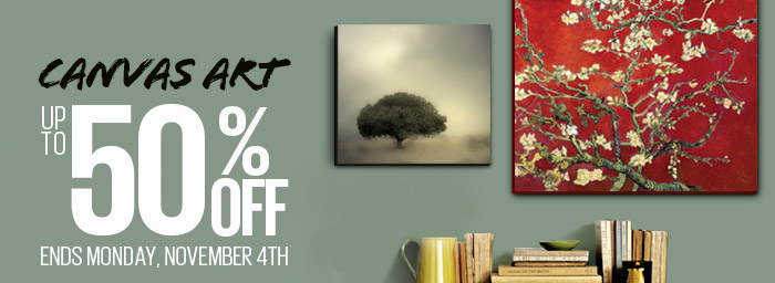 CANVAS ART - UP TO 50% OFF - ENDS MONDAY, NOVEMBER 4TH - MARK ROSS 'ROOM TO GROW' WRAPPED CANVAS ART By: Mark Ross; 'RED BLOSSOMING ALMOND TREE' CANVAS By: Vincent van Gogh