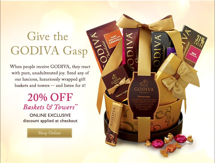 Give the GODIVA Gasp - Shop Online**
